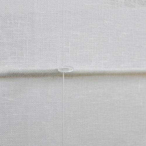 Biesenfaltrollo Rückseite Stab mit Plexiglasring