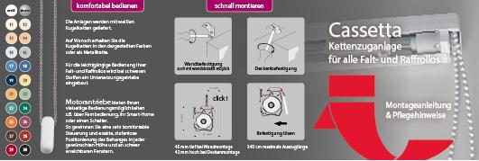 Kettenzuganlage Cassetta Montageanleitung und Pflegehinweise