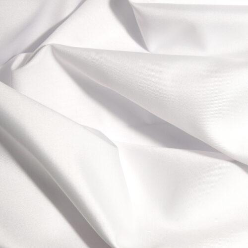 Futtersatin Fiorella 808 weiß 300cm Warenbreite/Warenhöhe 50% BW 50% PL