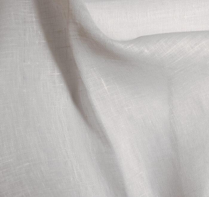 Linus Leinen transparent 866 ecru 100% Leinen 150cm Warenbreite